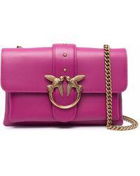 Pinko Logo-plaque Shoulder Bag - Pink