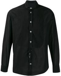 Giorgio Armani Cutaway Collar Shirt - Black