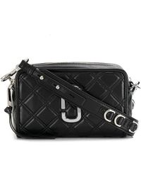 Marc Jacobs ブラック The Quilted Softshot 21 バッグ