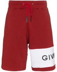 Givenchy - Cotton Track Shorts - Lyst