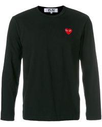 COMME DES GARÇONS PLAY Camiseta con logo de corazón - Negro