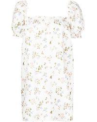 Reformation Платье Мини Carsen С Цветочным Принтом - Белый