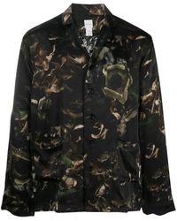 Paul Smith Пижама С Цветочным Принтом - Зеленый