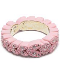 Bottega Veneta Кольцо Soft С Кристаллами - Розовый