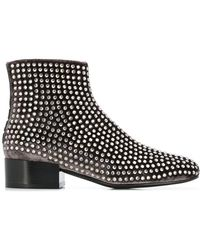 Alberto Gozzi - Studded Ankle Boots - Lyst