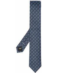Fendi Monogram Pattern Tie - Blauw