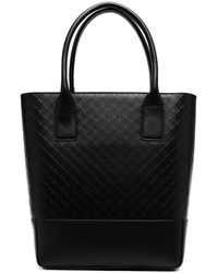 Bottega Veneta Embossed Tote Bag - Black