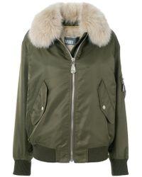 Army by Yves Salomon - Detachable Collar Bomber Jacket - Lyst