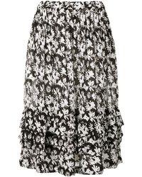 Comme des Garçons - Floral Print Tiered Skirt - Lyst