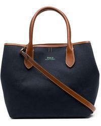 Polo Ralph Lauren ロゴ ハンドバッグ - ブルー