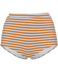Solid & Striped - Jamie Ribbed High Waist Bikini Bottom - Lyst