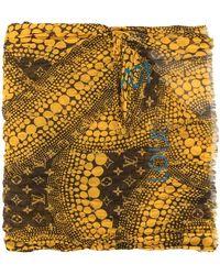Louis Vuitton Fular Waves Infinity con monograma de Pre-Owned x Kusama Yayoi - Amarillo