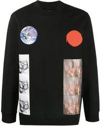 Raf Simons Earth Planet スウェットシャツ - ブラック