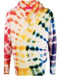 The Elder Statesman Tie-dye Cashmere Hoodie - Multicolour