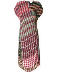 Ports 1961 Multi-check Pattern Dress - Red