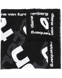 Diane von Furstenberg - Logo Print Scarf - Lyst