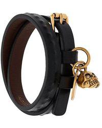 Alexander McQueen - Armband in Wickeloptik - Lyst