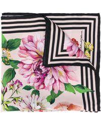 Dolce & Gabbana Sjaal Met Bloemenprint - Roze