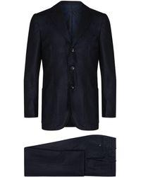 Kiton Cashmere Suit - Blue