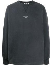 Acne Studios Oversized-Sweatshirt mit Logo - Schwarz