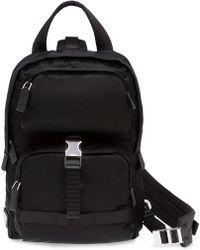 Prada - Rucksack mit einem Riemen - Lyst