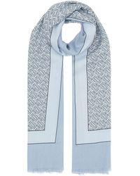 Burberry - カシミア モノグラム スカーフ - Lyst
