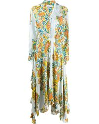 Lanvin Flower Swirl ドレス - ブルー