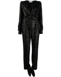 In the mood for love Amber Sequinned Jumpsuit - Black