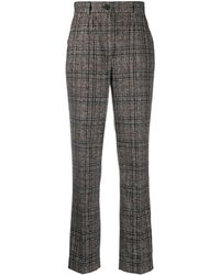 Dolce & Gabbana Tweed Check Tailored Pants - Brown