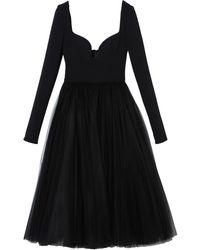 Carolina Herrera - Платье Из Тюля С Длинным Рукавами - Lyst