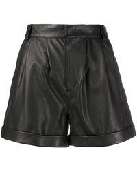 FEDERICA TOSI High Waist Shorts - Zwart