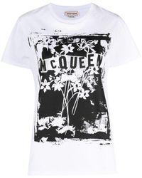Alexander McQueen - グラフィック Tシャツ - Lyst
