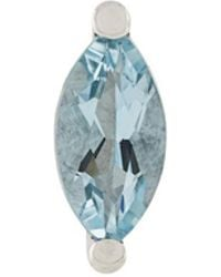Delfina Delettrez - Dots Solitaire Aquamarine And Pearl Earring - Lyst