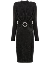 Philipp Plein ビジュー ロングドレス - ブラック