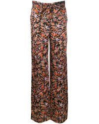 10 Crosby Derek Lam Drawstring Waist Paisley Print Pyjama Pant - Black