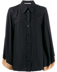 Stella McCartney Рубашка С Объемными Рукавами - Черный