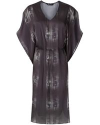 UMA | Raquel Davidowicz Brussel Drawstring-waist Dress - Black