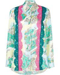 Emilio Pucci Lace inserts floral shirt - Multicolore