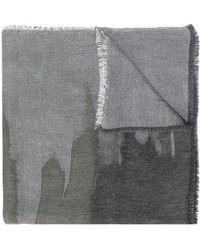 Blanca Vita メタリック パターン スカーフ - グレー