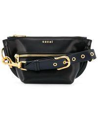 Sacai ロゴ ベルトバッグ - ブラック