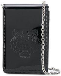 KENZO タイガーモチーフ ショルダーバッグ - ブラック