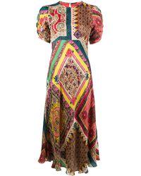 Etro - パッチワーク ドレス - Lyst