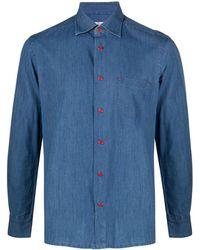 Kiton デニムシャツ - ブルー