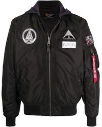 Alpha Industries Nasa Ma-1 Tt Hooded Jacket - Black
