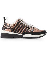 DSquared² Sneakers Met Slangenprint - Roze