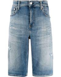 Calvin Klein Denim Shorts - Blauw