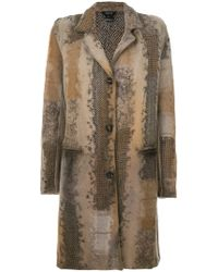 Avant Toi - Embroidered Knitted Coat - Lyst