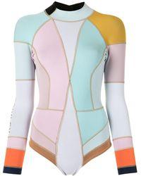 Cynthia Rowley Dylon カラーブロック ウェットスーツ - ブルー