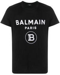 Balmain - T-shirt à logo imprimé - Lyst
