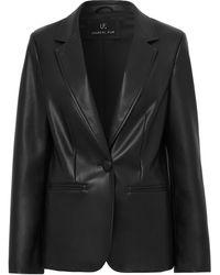 Unreal Fur Bell アニマルフリーレザージャケット - ブラック